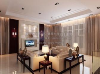 Retro Living Room Interior Scene 3dmax Model Free Download