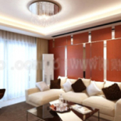 Cozy Living Room Free 3dmax Model