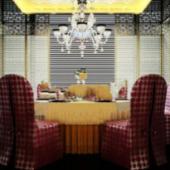Retro Restaurant 3D Interior Scene