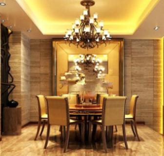 Royal Restaurant Interior Scene 3dMax Model