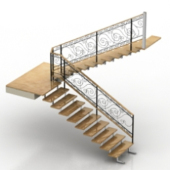 Vintage Staircase Free 3D Model