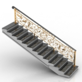 Continental Stairs 3d Model