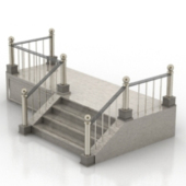Western Staircase Free 3dMax Model