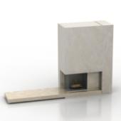 European Fireplace Free 3dmax Model