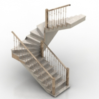 Free 3dmax model staircase with handrails free download for Escaleras 3d max