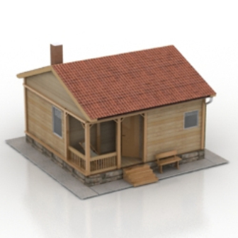 Sauna house free 3d model free download no65 zip for Minimalist house 3d model