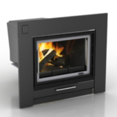 Black Fireplace Free 3dmax Model