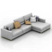 Silver Sofa Set Free 3d Max Model