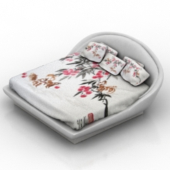 Double Bed Free 3d Max Model