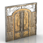 Model European Gate Door 3D Models