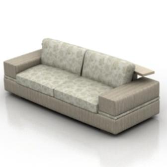 Gray Fabric Sofa Free 3dMax Model