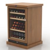Wooden Wine Cabinet Free 3dmax Model
