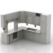 White Kitchen Cabinet Free 3dmax Model