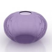 Decorration Round Glass Porcelain Free 3dmax Model