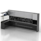 Black Kitchen Cabinet Free 3dmax Model
