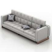 Silver  Sofa Free 3dMax Model