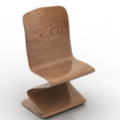 Curved Novelty Chair Free 3dMax Model