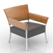 Wooden Single Chair Free 3d Model
