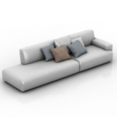 White Couch Sofa Free 3d Max Model