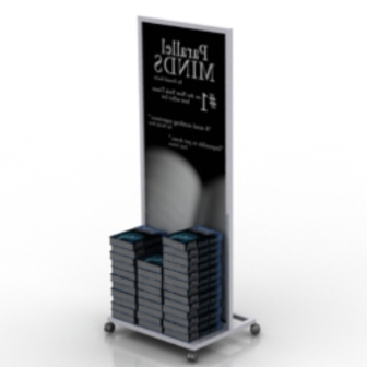 High Bookshelf Free 3d Max Model