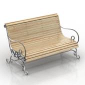 European Park Seat 3dMax Model