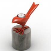 Red Bird Alarm Clock