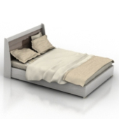 Simple Twin Bed Free 3d Model