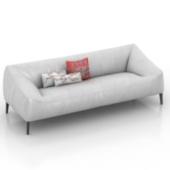 White Small Sofa Free 3d Models