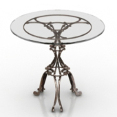 European Metal Coffee Table 3d Model