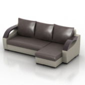 Leather Sofa Free 3d Model