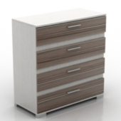 Wooden Pattern Cabinet Free 3d Models