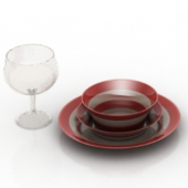 Glass dishes Free 3d Max Model