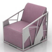 Pink Armchair Free 3dmax Model