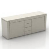 White Fashion Desk Free 3dmax Model