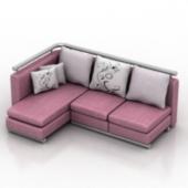 Pink Sofa Free 3d Max Model