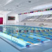 Swimming Center Interior 3dsMax Model