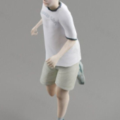 Running Kid Character 3d Model