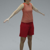 Summer Fashion Female 3d Model