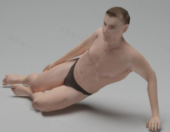 Male Nude Character Free 3dmax Model