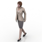 Free 3dmax Model Of Female White-collar Workers