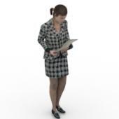 Secretary Woman Free 3dmax Model
