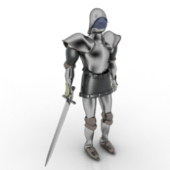 European Knights Character Free 3dmax Model