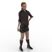 Fashion Woman Free 3D Model