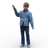 Western Boy Free 3D Model