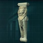 Shishi Pillars Free 3dmax Model