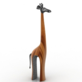 Giraffe Sculpture Free 3dmax Model