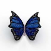 Blue Butterfly Free 3dmax Model