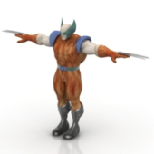 Wolverine Toy Free 3dmax Model