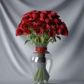 Red Rose Flower Free 3dmax Model
