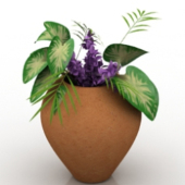 Flower Potted Free 3dmax Model